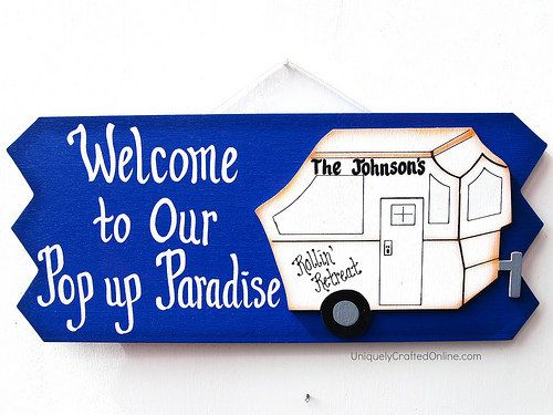 Personalized Pop Up Camper - RV Sign
