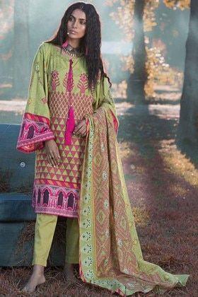 26f086d61e Warda 3 Piece Custom Stitched Suit - Green - 3818828 | Warda ...