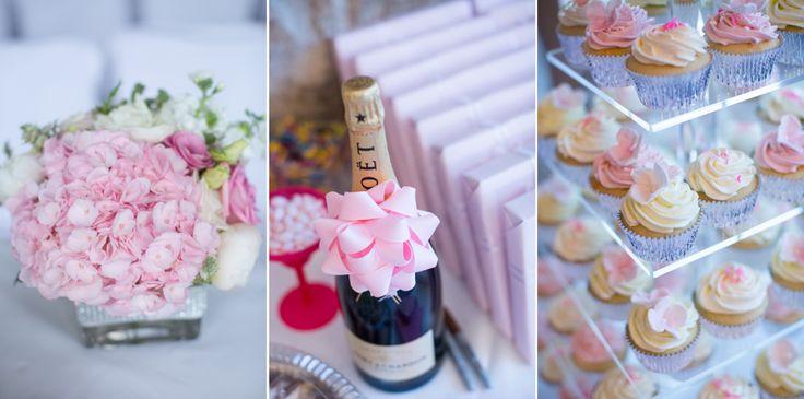 Vineland Estates wedding reception pale pink decor