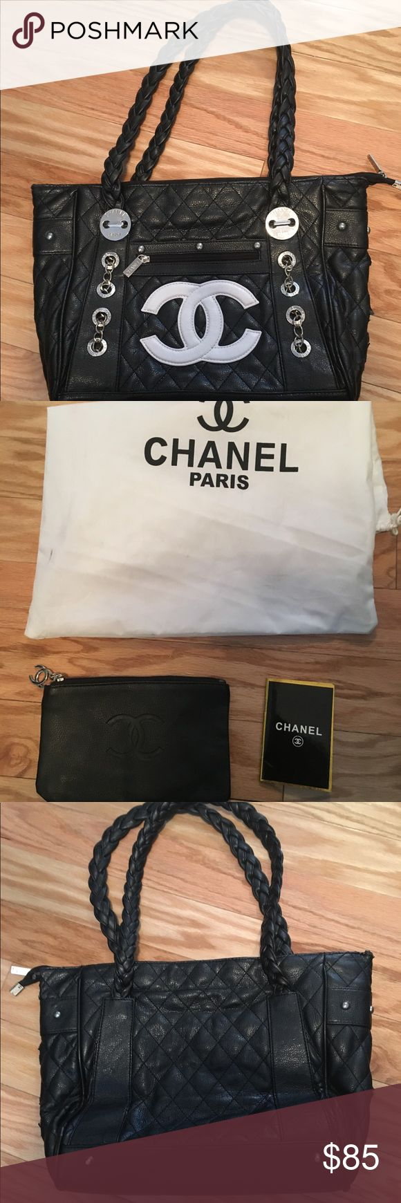 Chanel handbag Excellent quality replica handbag. Used minimally. Comes with zippered pouch and dust bag. Please message me for any info you need! :) Bags Shoulder Bags #Replicahandbags