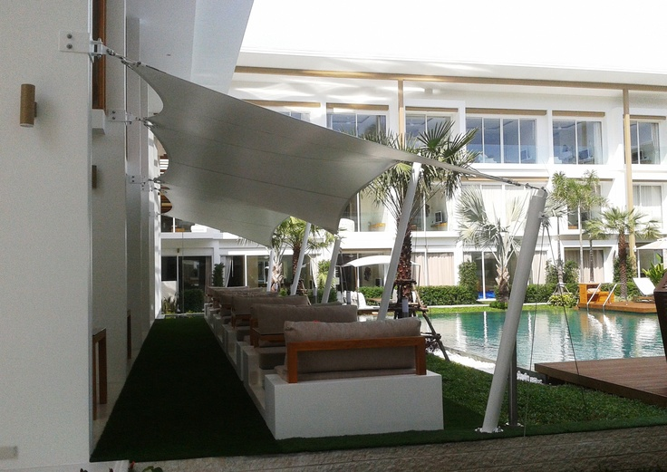 Beautiful shade installations at the award-winning development Lanna - Koh Samui, Thailand. www.shadesasia.com