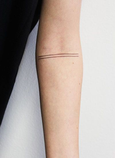 two lines on arm