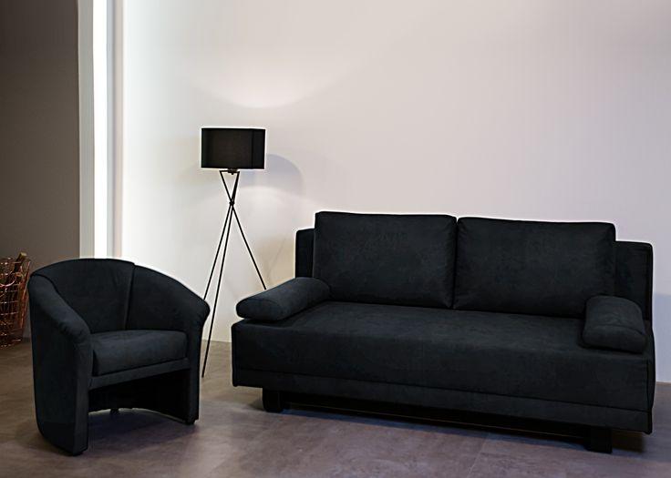 Polstergruppe Ikaiko Schlafsofa Mit Sessel Vintage Schwarz 21516. Buy Now  At Http://