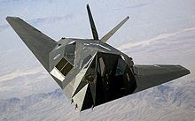 The F-117 Nighthawk was a stealth attack aircraft (retired from service on 22 April 2008).