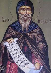 Benito de Nursia (San Benito) fue el padre del Monacato Occidental y es el patrón de Europa