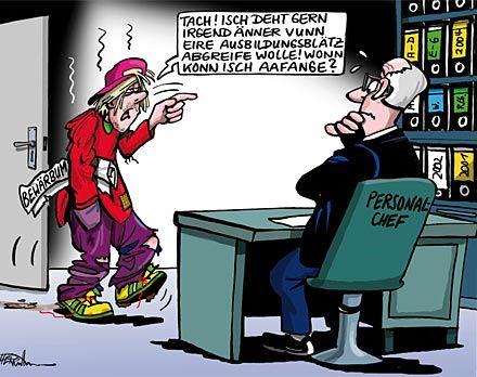 Karikatur Typ Schlurft Ins Personalb 252 Ro Recruiting