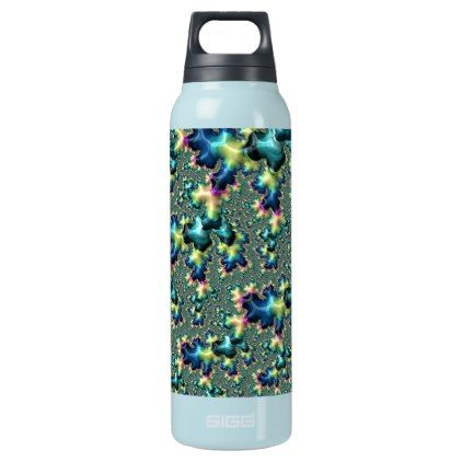 Funky Fractal Insulated Water Bottle  $50.25  by Kaleiope_Studio  - custom gift idea
