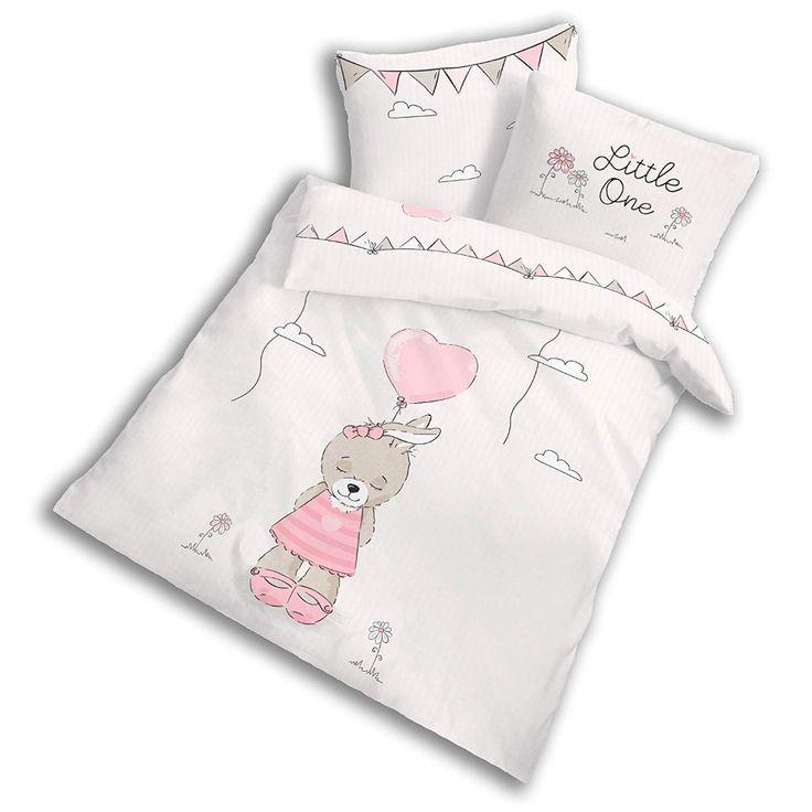Baby Bettwasche Set Baumwolle Biber Kinderbettwasche 135x100