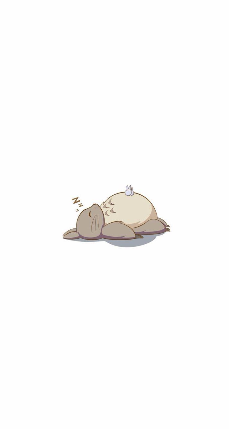 Sleeping Totoro iPhone wallpaper mobile9 Cute desktop