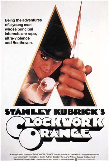 "Stanley Kubrick's ""Clockwork Orange"" is an example of an adaptation of a book and turned into a film. Controversy rose from this film after it was originally Rated X until Kubrick edited out the 30-second sexual scene. It is currently Rated R. Read more: http://www.huffingtonpost.com/2013/01/16/r-rated-nc-17-movies_n_2490505.html#slide=1992310"