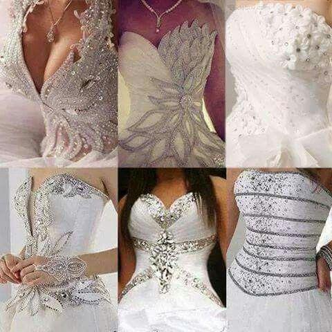 Bridal.. beautiful ornamen in wedding dress..