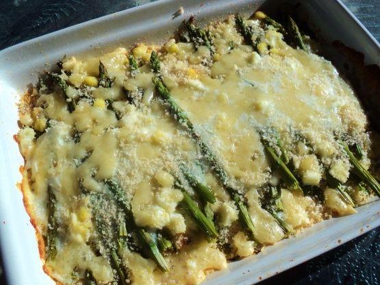 Scalloped Asparagus Recipe Asparagus Recipe Food