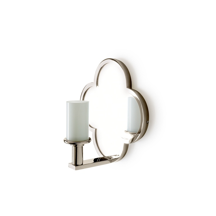 Lawson Wall Mounted Clover Quadrifoil Single Arm Mirror Sconce With White  Diffuser Shade · Sconce LightingBathroom ...
