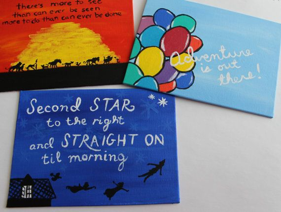 CUSTOM Disney Quotes Original Painting By SamanthaTroupDesigns 1200