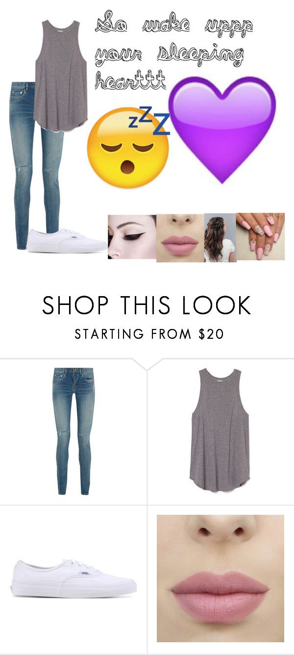 """""""So wake uppp your sleeping hearttt"""" by littledirectiondreamteam ❤ liked on Polyvore featuring Yves Saint Laurent, Vans and fashionset"""