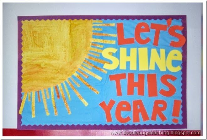 Back to school bulletin board ideas.. Might change this up by putting names on the rays
