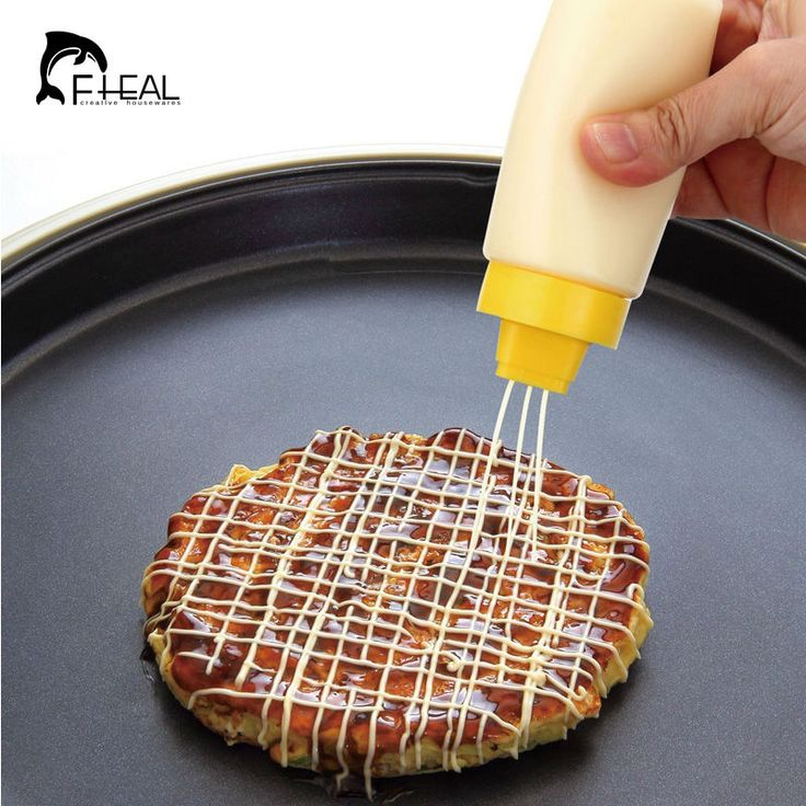 4-Hole Squeeze Type Sauce Bottle Safe Silicone For Ketchup Jam Mayonnaise Olive Oil