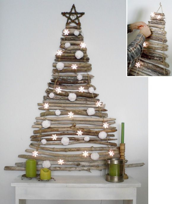 A Round-Up of DIY Wall Christmas Trees | At Home with Kim Vallee