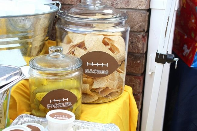 Football Themed Second Birthday Party! - Spaceships and Laser Beams