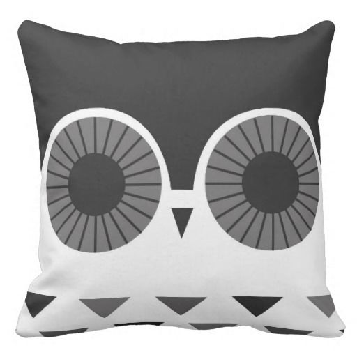 Black Owl - Coussin