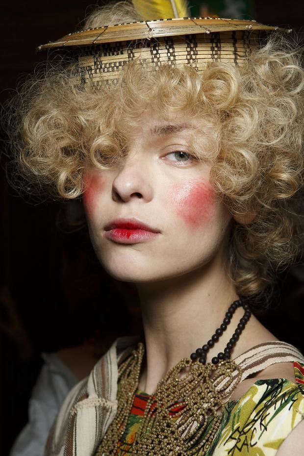 #beauty #backstage @ Vivienne Westwood Fall 2014 #PFW
