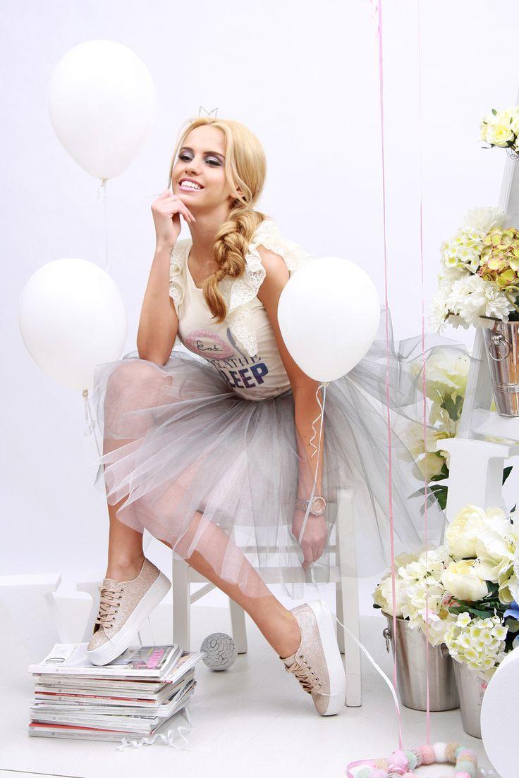 Champagne Lilac Tutu Skirt - Baronesa Fashion House