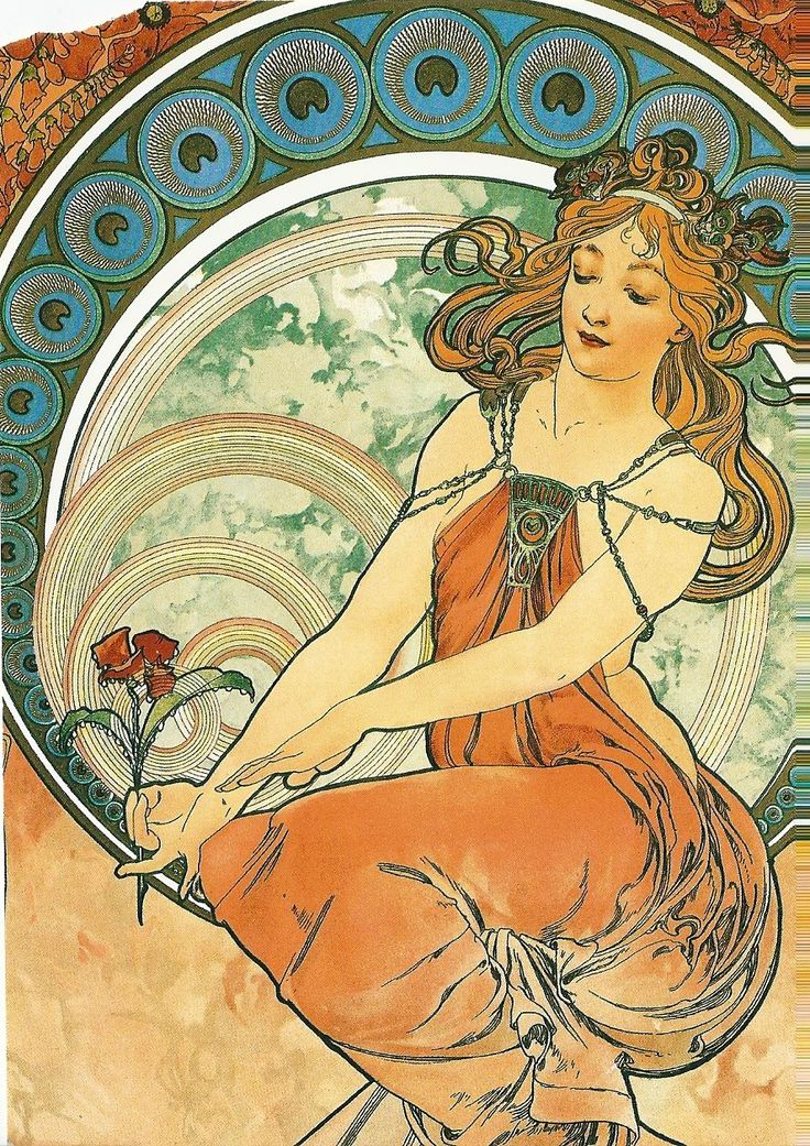 The Arts: Painting, 1898 by Alphonse Mucha (1860-1939).