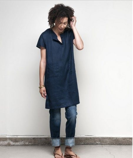 dress over jeans