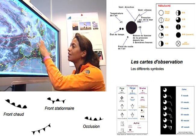 Cours de météorologie marine - Qu'est ce que la Météorologie ? 12 Supports de cours météo téléchargeable au format PDF. Auteurs: © Roger Frébault, © Météo-France © C'est pas sorcier.