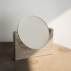 Menu Pepe Marble Mirror by STUDIOPEPE | Scandinavian design marble table mirror for the bath | MenuDesignShop.com