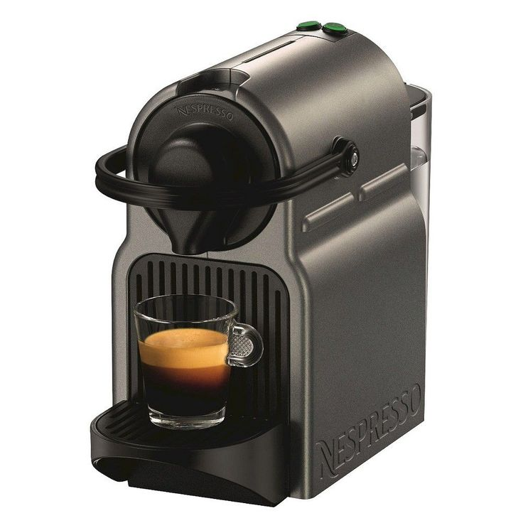 Nespresso Inissia Titan Espresso Machine, Grey