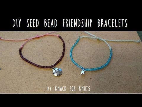 DIY Seed Bead Wax String Friendship Bracelets | Tutorial Inspired by Pura Vida Bracelets! - YouTube