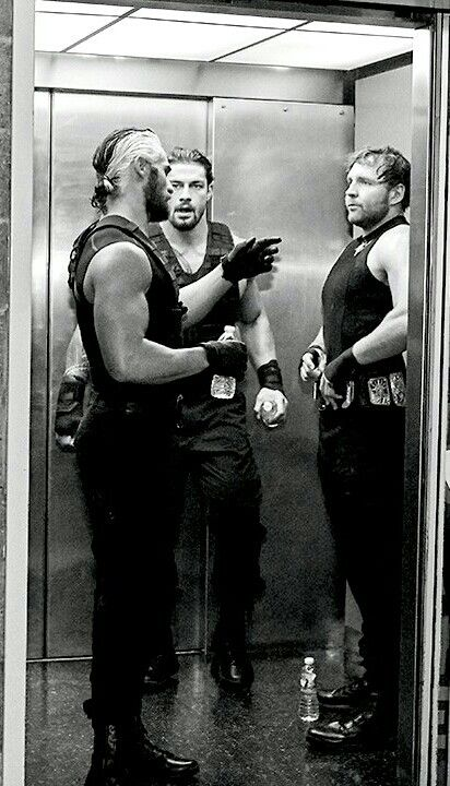 I really wanna be stuck in this elevator.The Shield Talking game plan