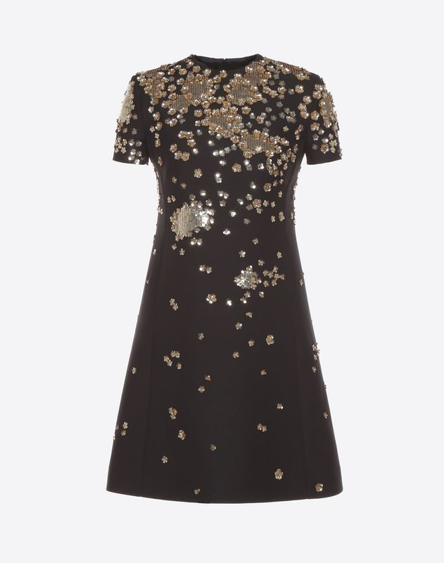 Discover the details of the Embroidered Crepe Couture Dress for Women. Find out all the information at Valentino Online Boutique and shop designer icons to wear.