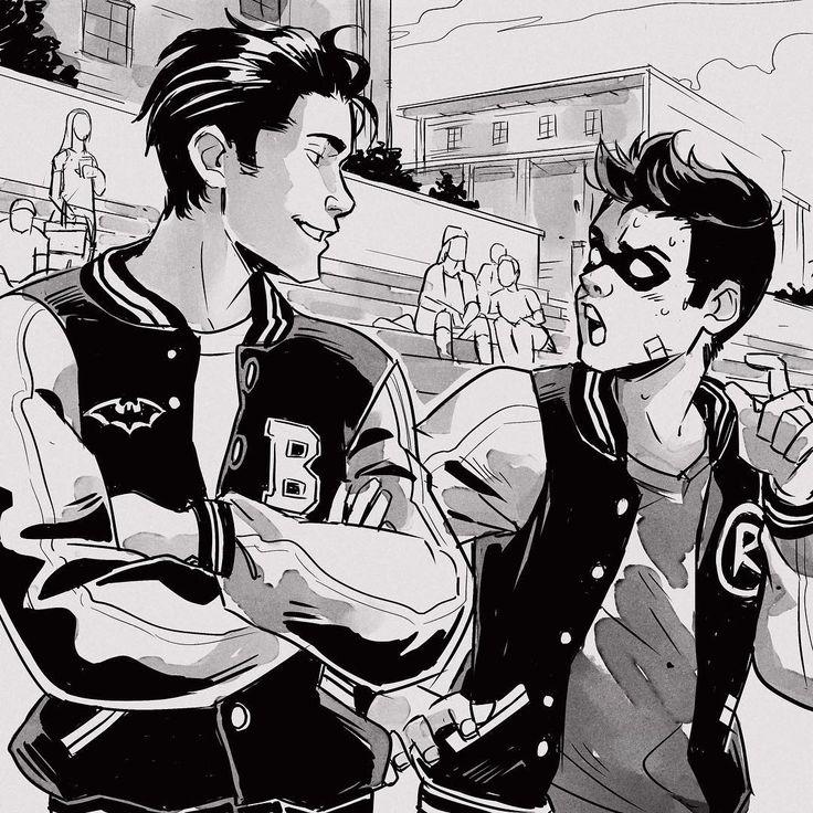 Gabriel Picolo (@_picolo) en Instagram: alternative universe where Robin goes to the same highschool as Bruce Wayne.