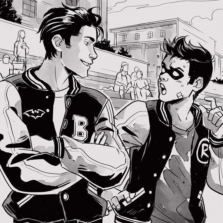 Gabriel Picolo (@_picolo) en Instagram: alternative universe where Robin goes to the same highschool as Bruce Wayne.
