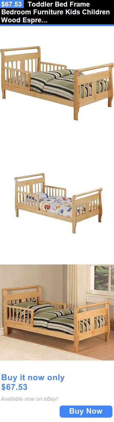 Kids Furniture: Toddler Bed Frame Bedroom Furniture Kids Children Wood Espresso Natural New BUY IT NOW ONLY: $67.53