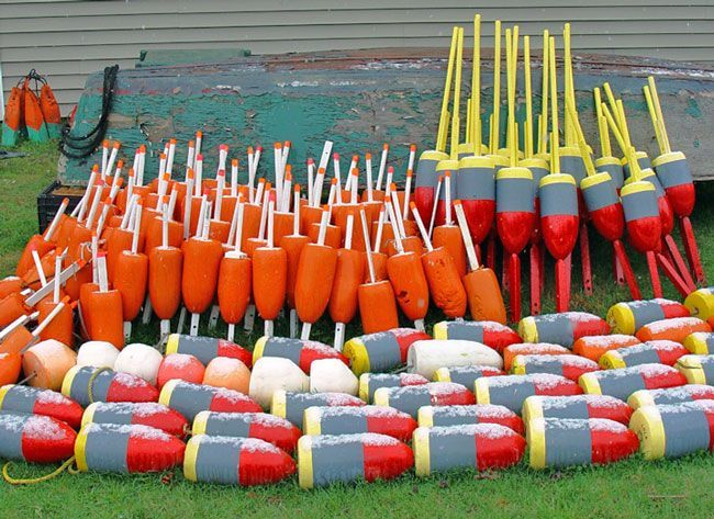 Foam lobster trap buoys