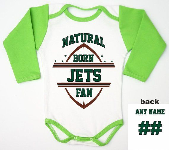 super popular e4253 6bf79 Jets Baby Romper For Newborn Fan, Neutral Baby Football ...