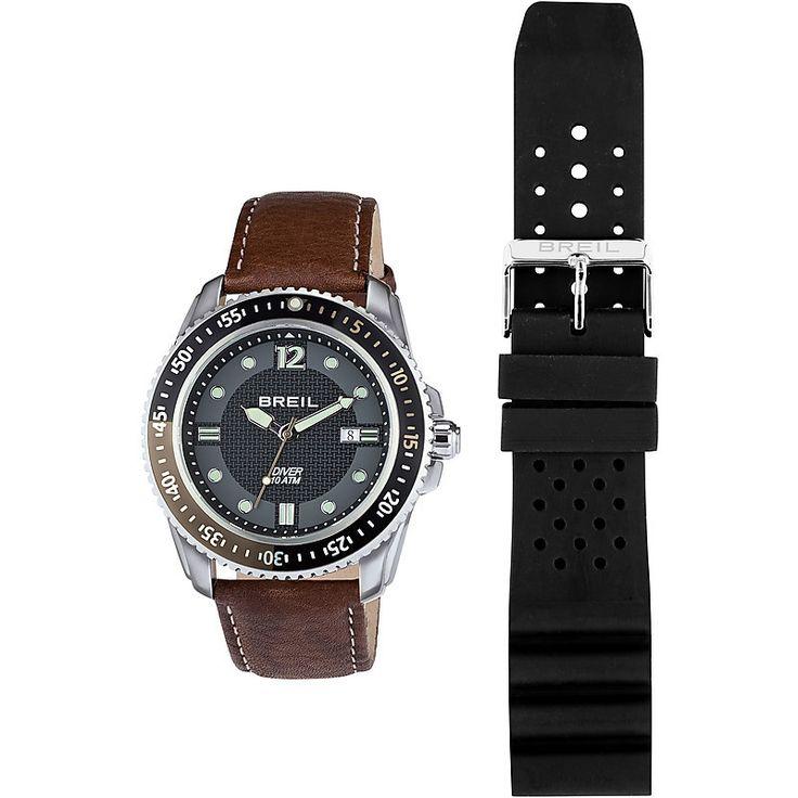 Con cassa in acciaio, movimento al quarzo, cinturino in intercambile e datario questo orologio breil è perfetto anche per chi è sportivo e ama le immersioni
