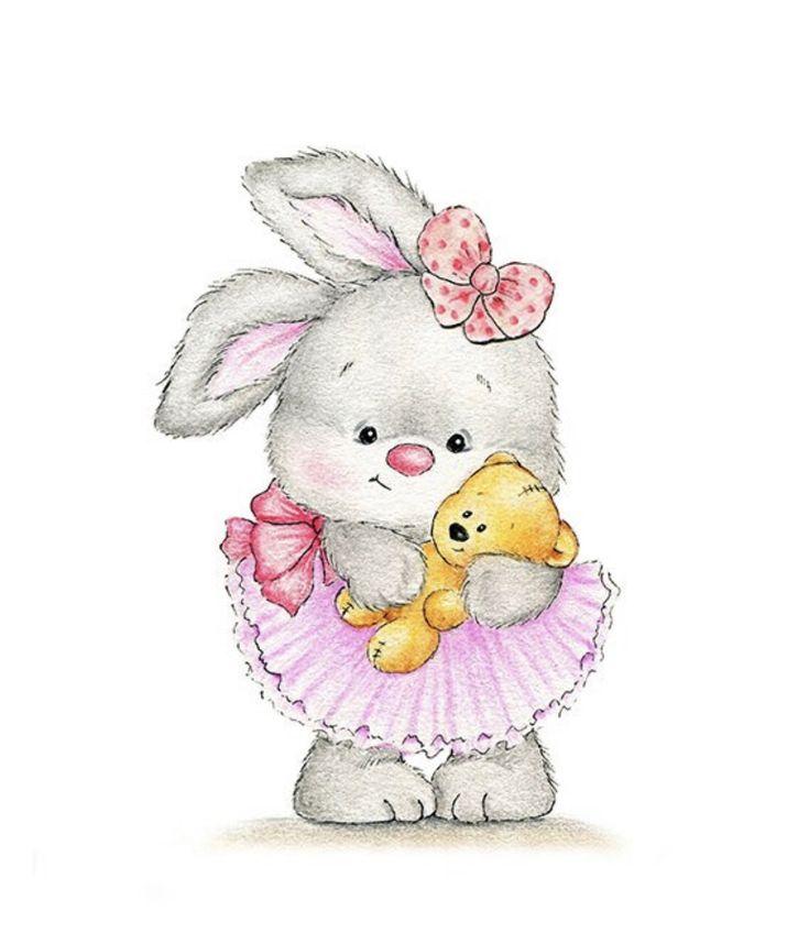 Домой открытки, картинка 1 годик девочке с зайчиком