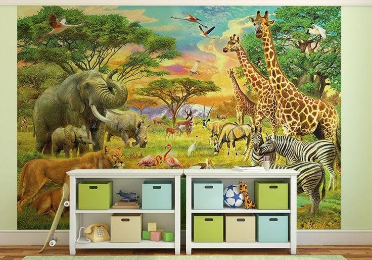 Afrykańskie Zwierzęta - fototapeta - 366x254 cm  Gdzie kupić? www.eplakaty.pl