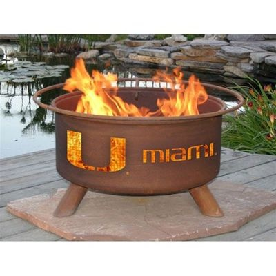 Miami Hurricanes Patina Fire Pit