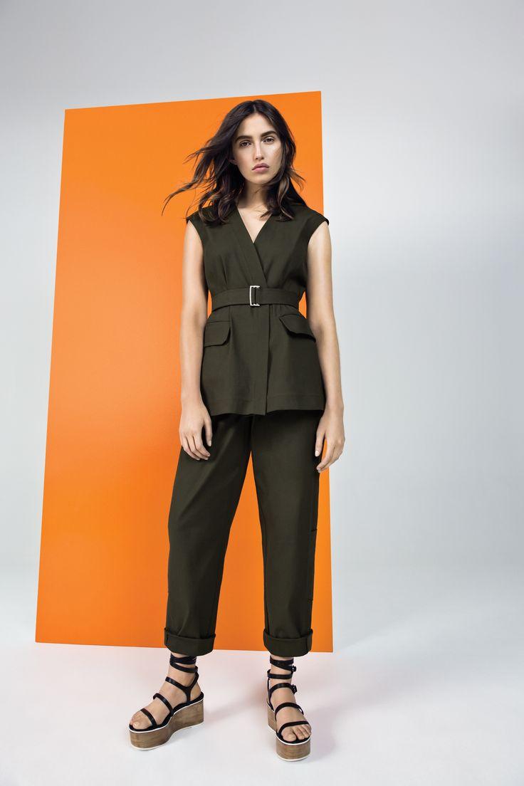 Cotton Military Vest, Cotton Cropped Pant