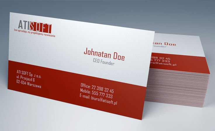 AtiSoft Business Cards - project #1