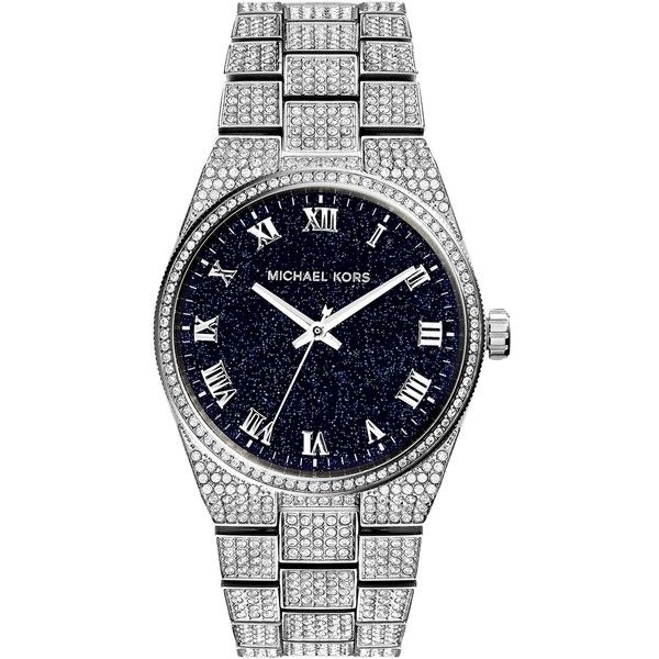 Pre-owned Michael Kors Channing Silver Tone Pave Glitz Watch (29.020 RUB) ❤ liked on Polyvore featuring jewelry, watches, accessories, silver, preowned watches, michael kors watches, silvertone jewelry, pave jewelry and michael kors jewelry