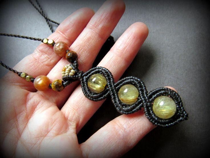 大粒ゴールドルチル ネックレス*ルチルクォーツ*天然石*パワーストーン - Tuwa Earth Crafts