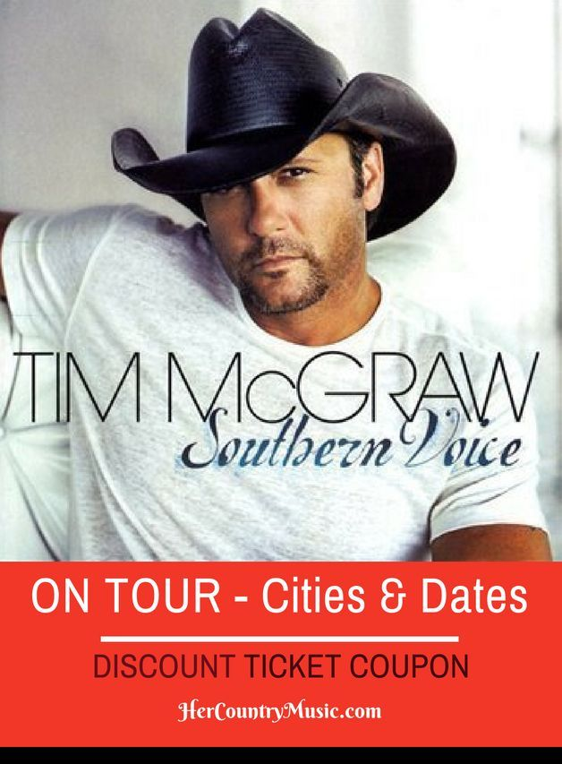 Tim McGraw Tour Dates and Cities at http://HerCountryMusic.com