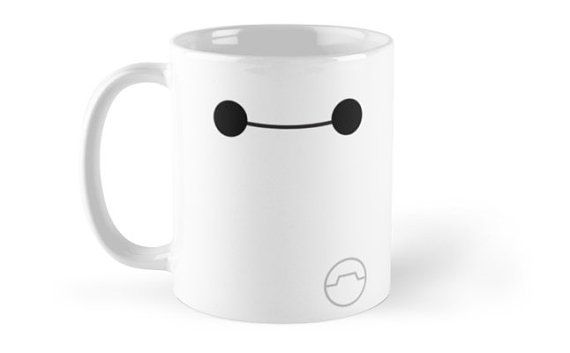 Add a huggable marshmallow-y exterior to your coffee or tea with this simple Baymax Smile mug design! Big Hero 6 Six - Simple Baymax Smile Mug.
