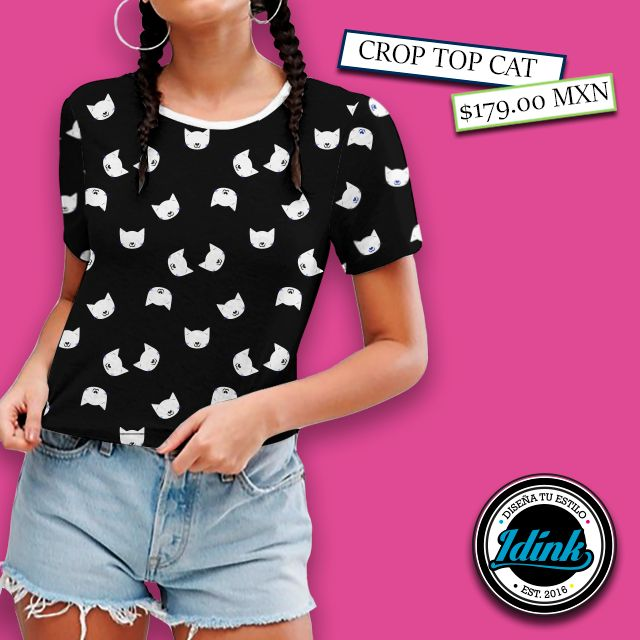 ¡It´s back! El Crop Top regresa para decirle adiós al calor ✋😃☀  #blusas #blusaslindas #tshirts #tshirtsdesign #teeshirt #streetwear #streetwearfashion #womenfashions #urbanwear #diseño #sublimacion #fashion #hechoenmexico #croptop #top #blusa #cat #gatos #kitty #diseñomexicano #tuestilomarca  Crop Top | Cat 🐱  --> www.idinkclothing.com